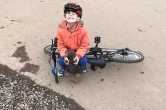 Boris enjoys cycling at Ashton Court