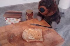 Horace eating his breakfast