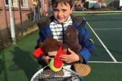 Boris plays tennis
