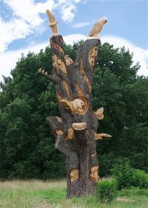 Cedar of Lebanon Tree Carving on Stoke Lodge Playing Fields