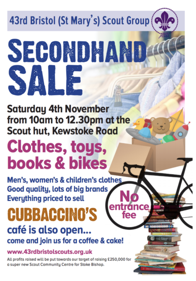 Secondhand Clothes Sale and Cubbaccino Cafe on 4th November